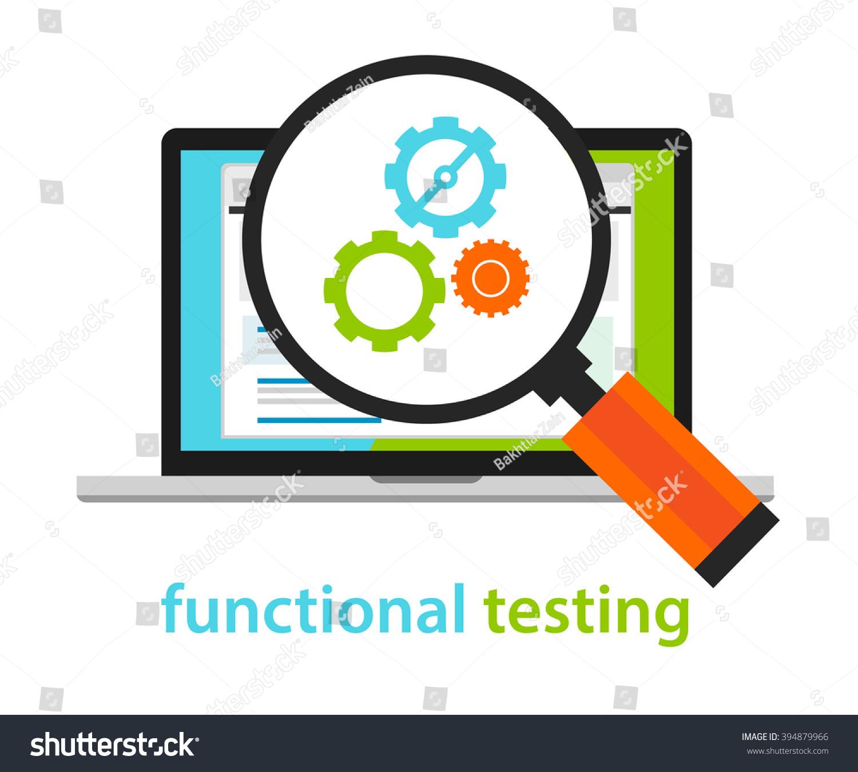 functional testing software development process methodology stock vector 394879966 shutterstock. Black Bedroom Furniture Sets. Home Design Ideas