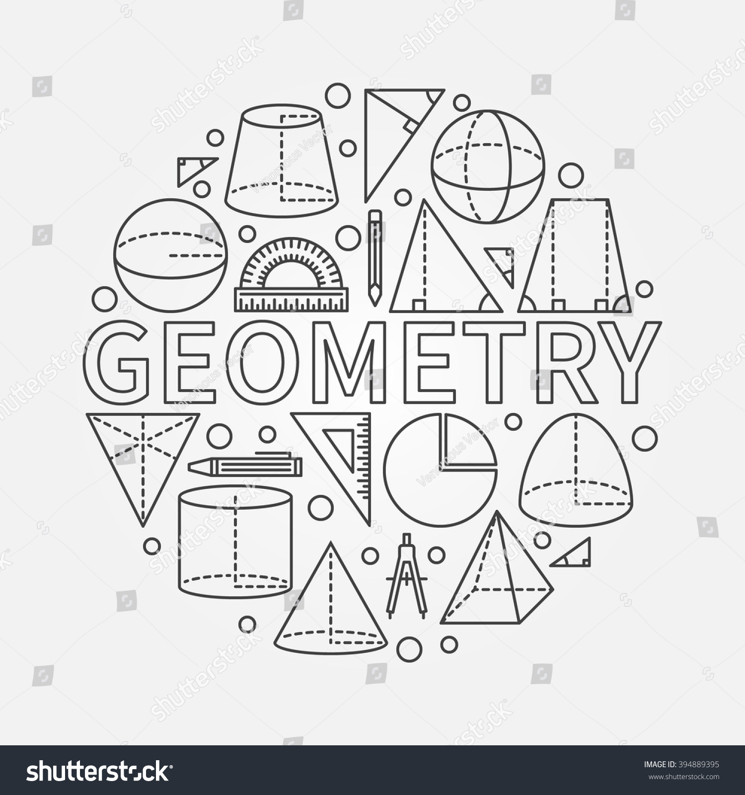 geometry round symbol vector math circle stock vector royalty free 394889395 https www shutterstock com image vector geometry round symbol vector math circle 394889395