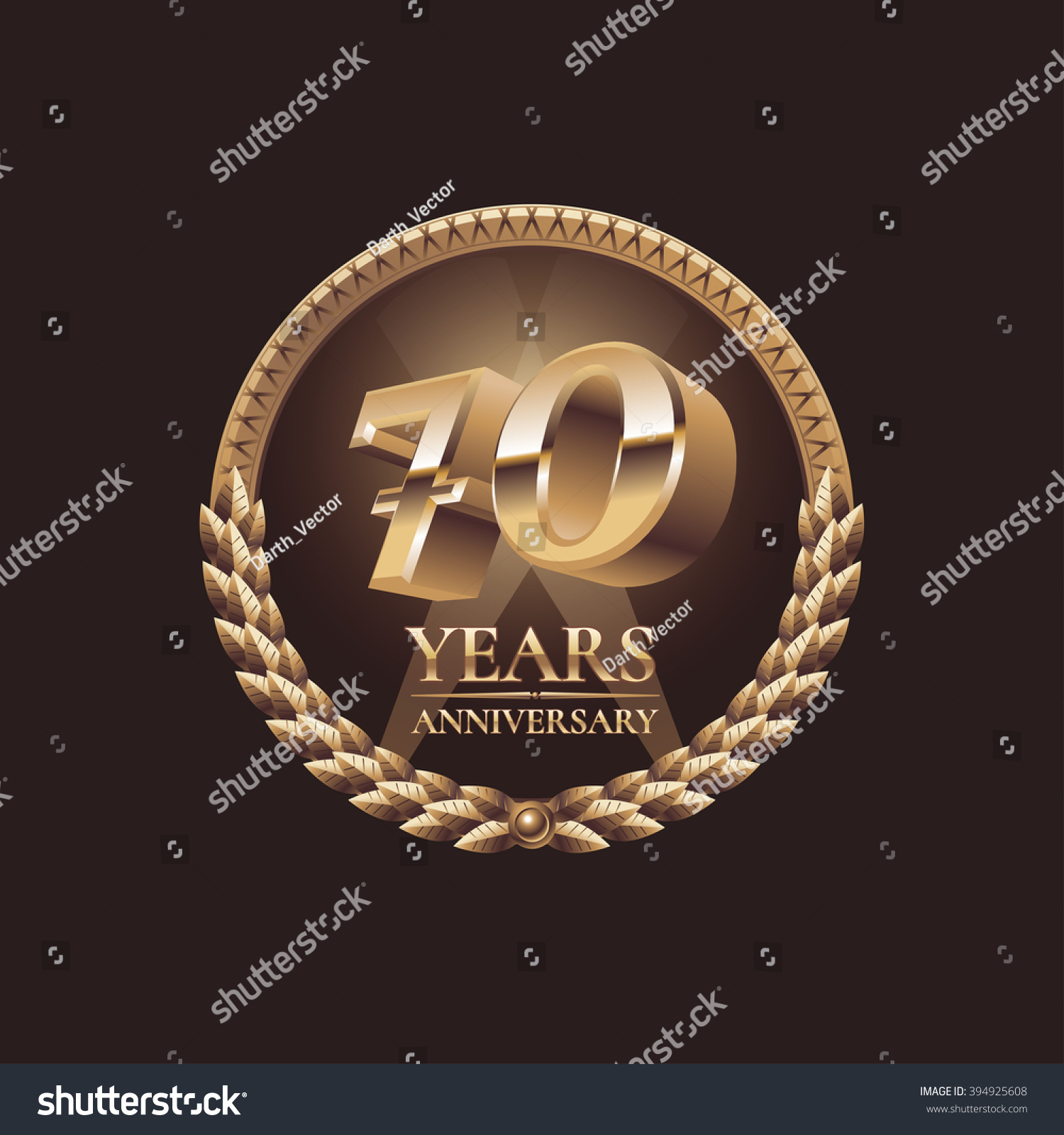 70 years anniversary vector icon symbol stock vector 394925608 70 years anniversary vector icon symbol emblem logo golden decoration design element biocorpaavc