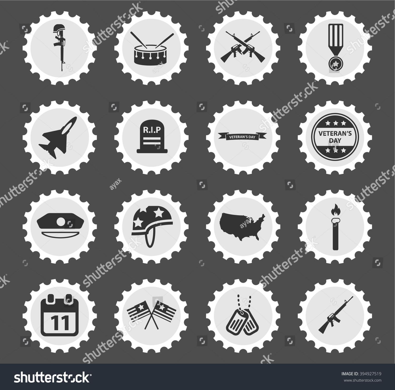 Veterans day simply symbols web icons stock vector 394927519 veterans day simply symbols for web icons biocorpaavc