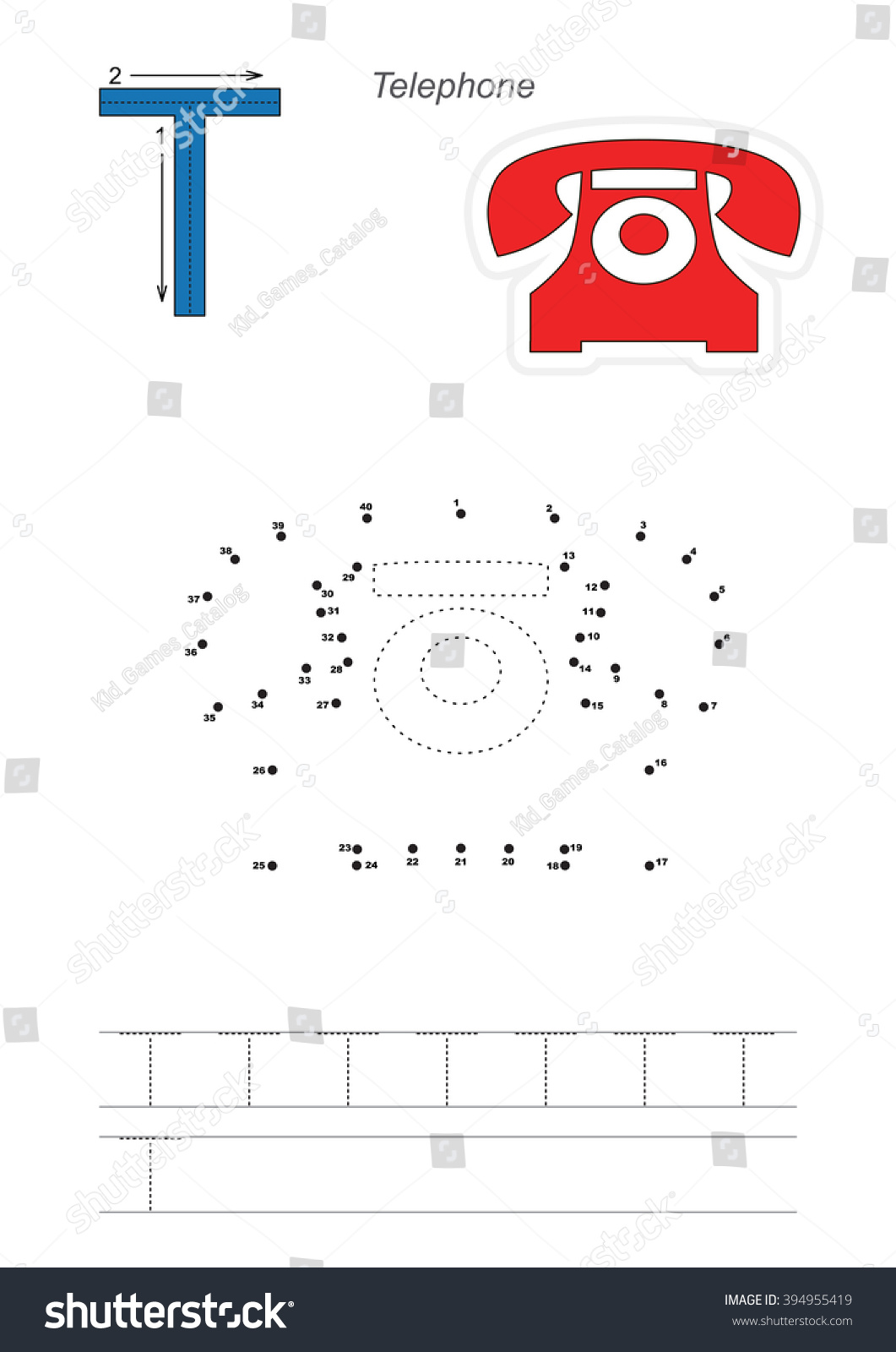 vector exercise illustrated alphabet learn handwriting stock