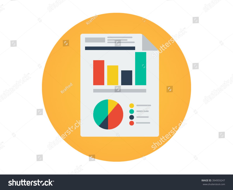 flat icon report illustration stock vector 394959247