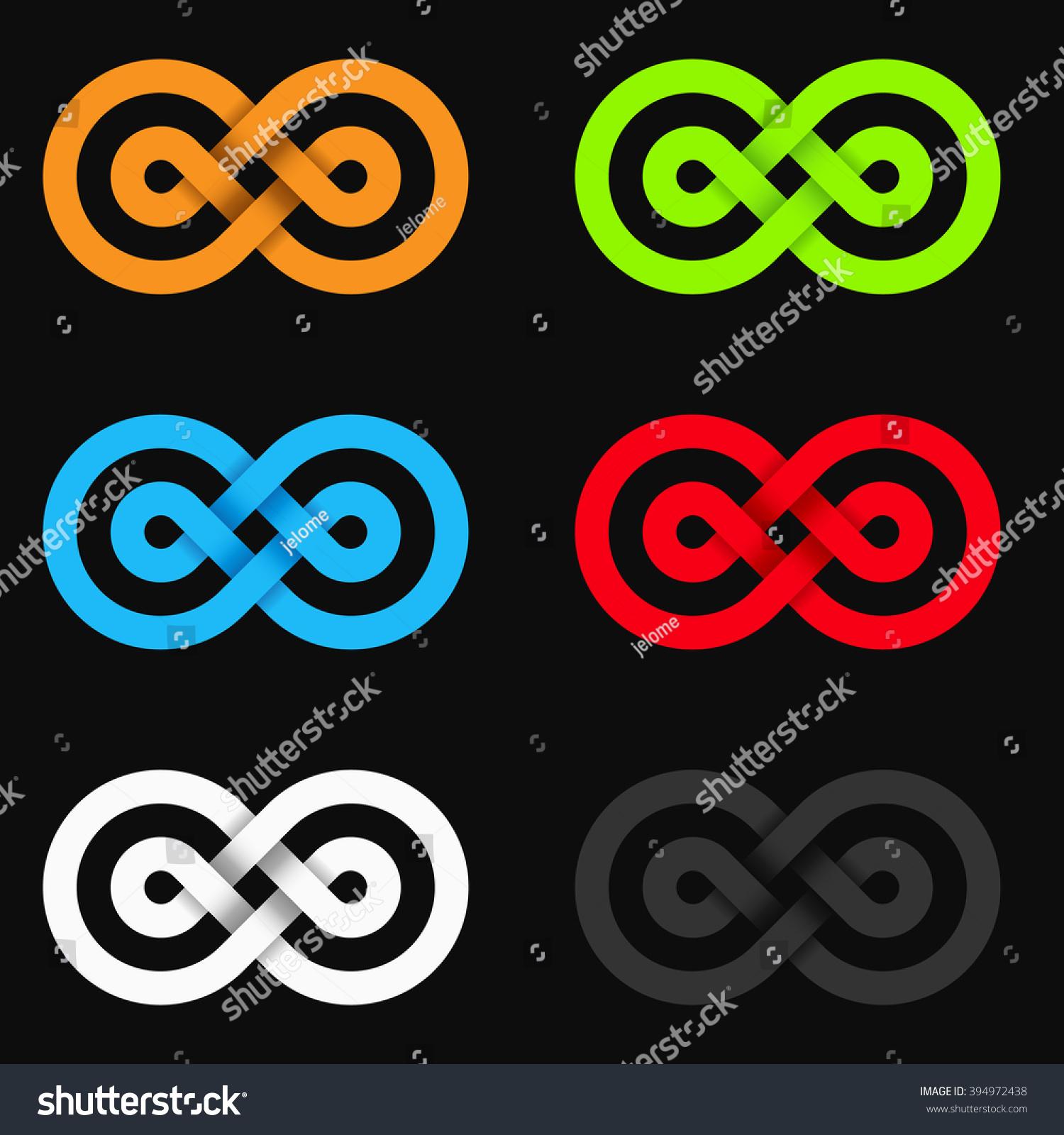 Vector infinity symbol double circles stock vector 394972438 vector infinity symbol with double circles buycottarizona
