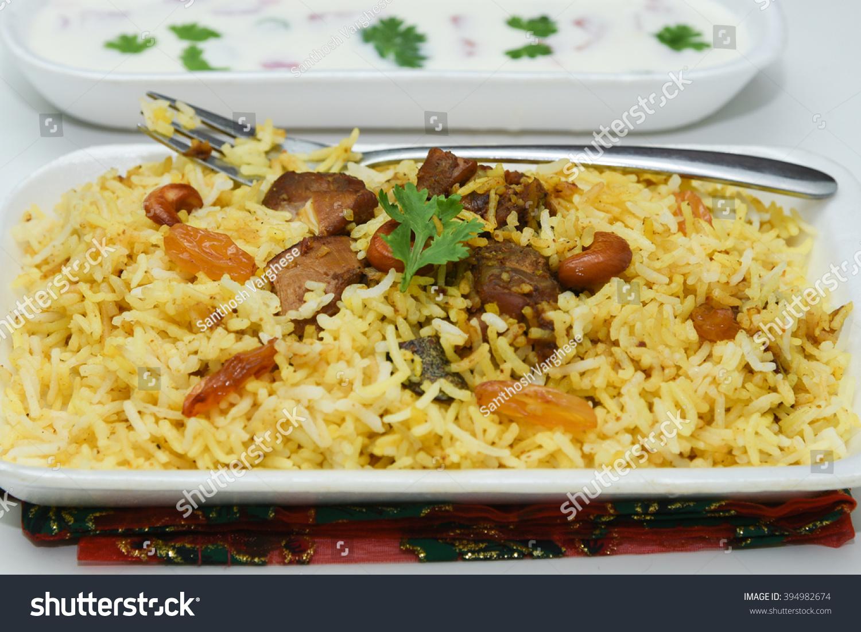 关闭美食的北印度菜Hydrabadi鸡biriyani,美味b小说蔬菜想看图片