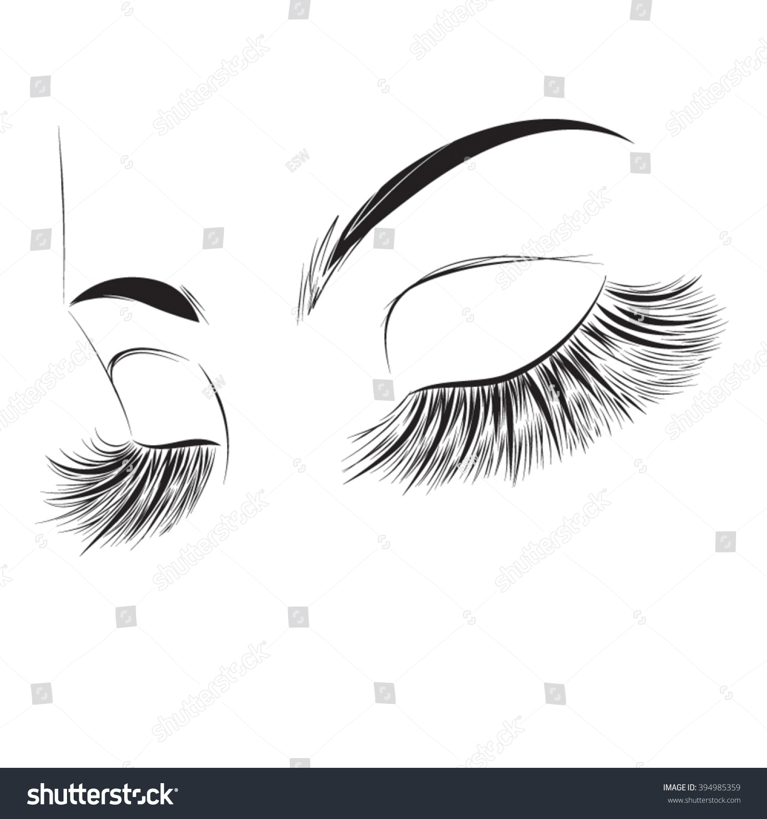 long lashes eyelash extension icon stock vector royalty free