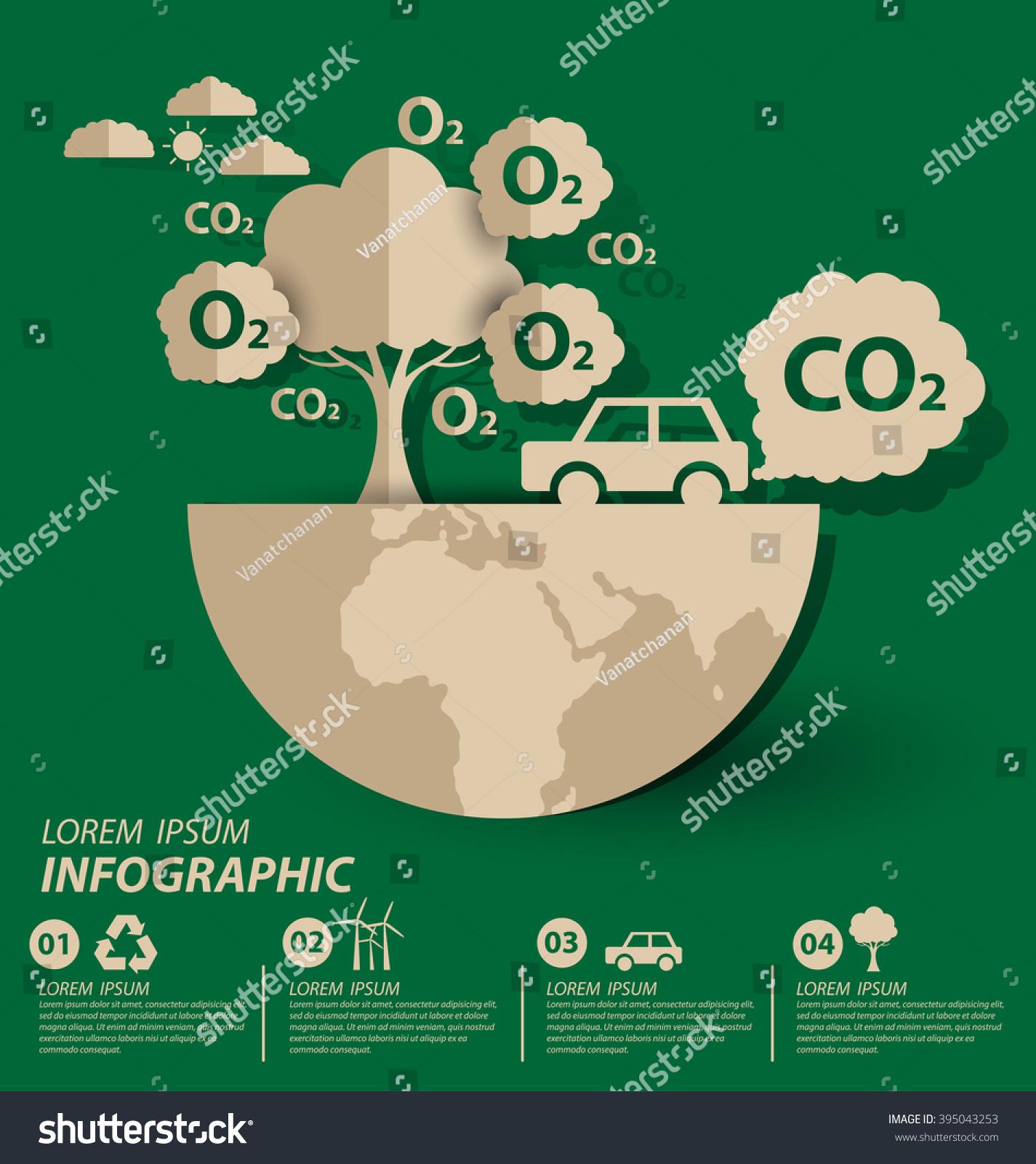 Oxygen Save World Vector Illustration Stock Vector Royalty Free