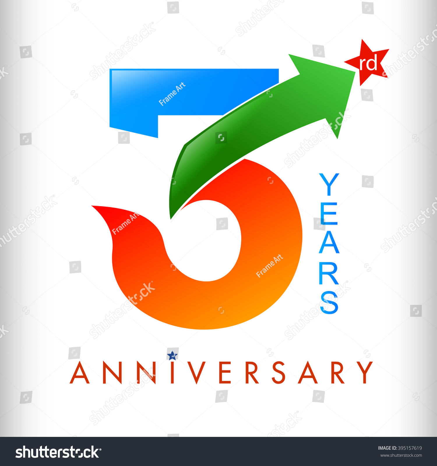Colors tamplate 3rd anniversary years vector illustrator celebration logo color number design - Color of th anniversary ...