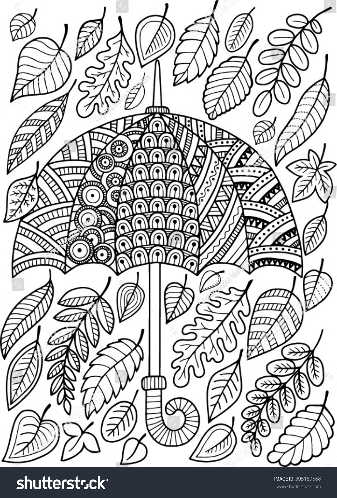 hand draw vector doodle coloring page stock vector