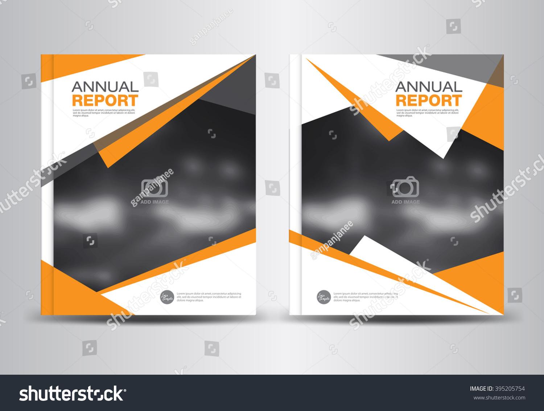 orange annual report template polygon background stock vector orange annual report template polygon background brochure flyer cover design portfolio