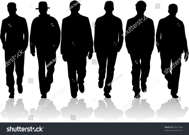 cfcf1549dac Mens fashion stock vector royalty free shutterstock jpg 1500x1075 Mens  fashion silhouette