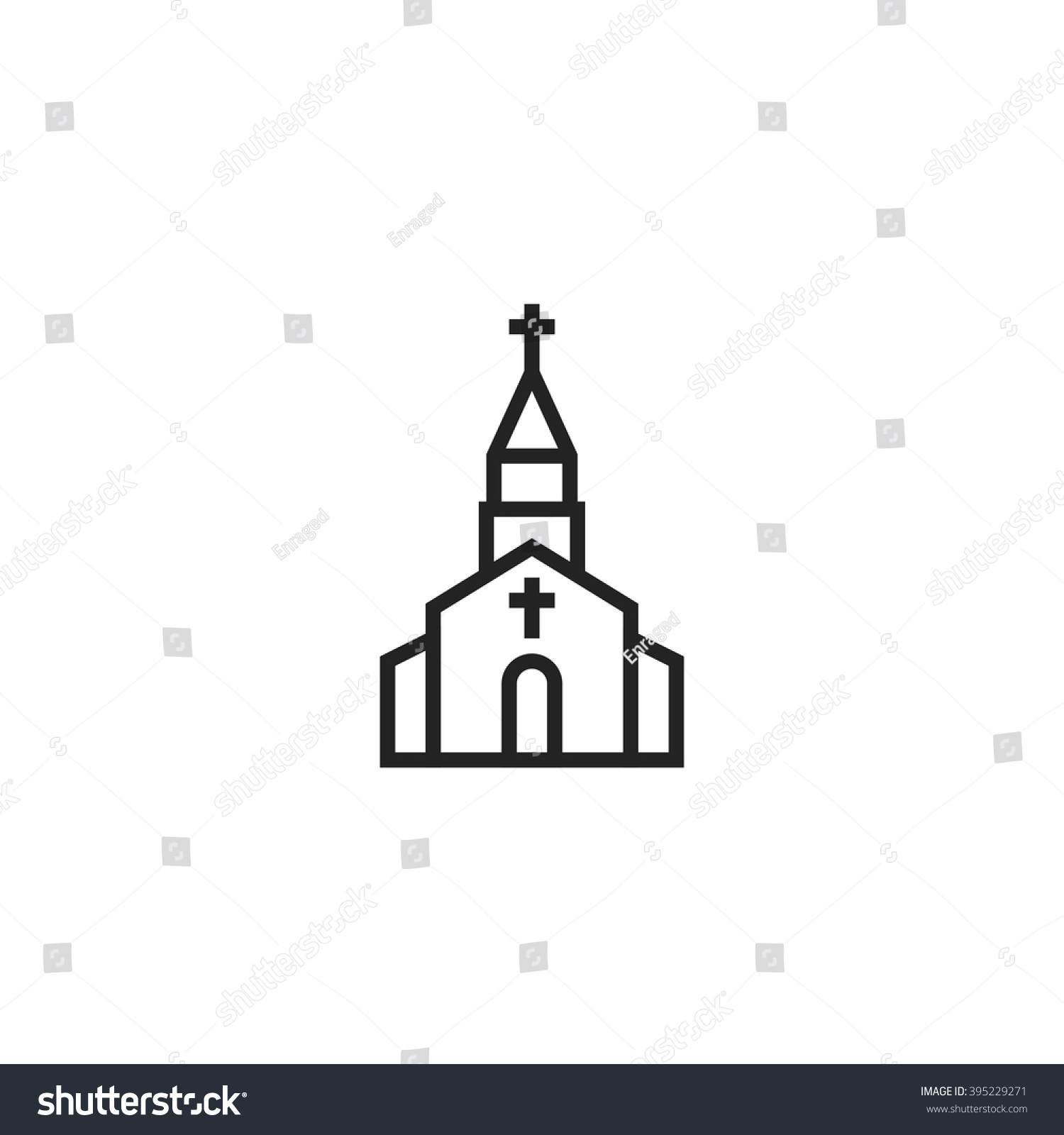 Church Outline Icon