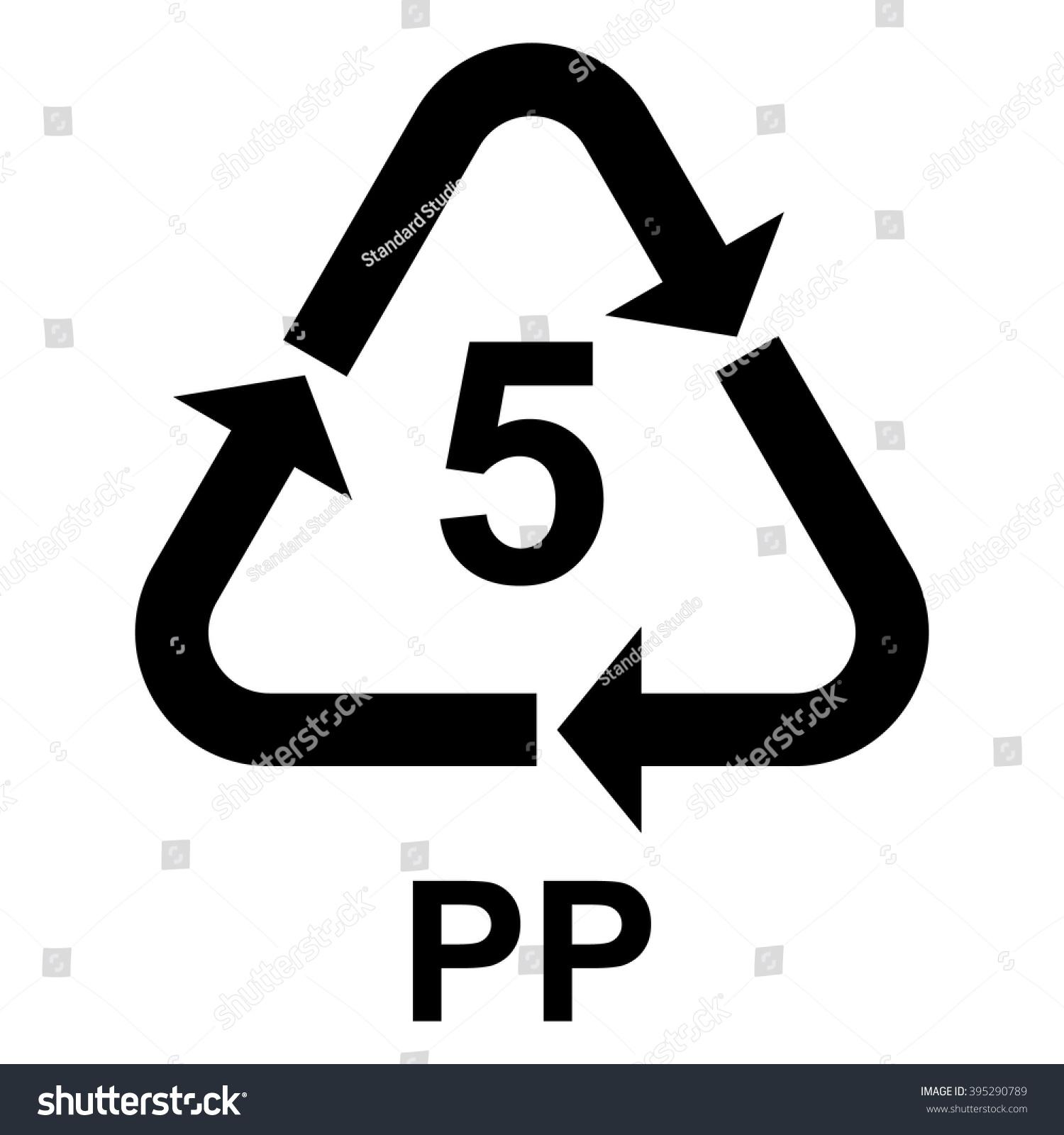 Plastic recycling symbol pp 5 plastic stock vector 395290789 plastic recycling symbol pp 5 plastic recycling code pp 5 vector illustration biocorpaavc