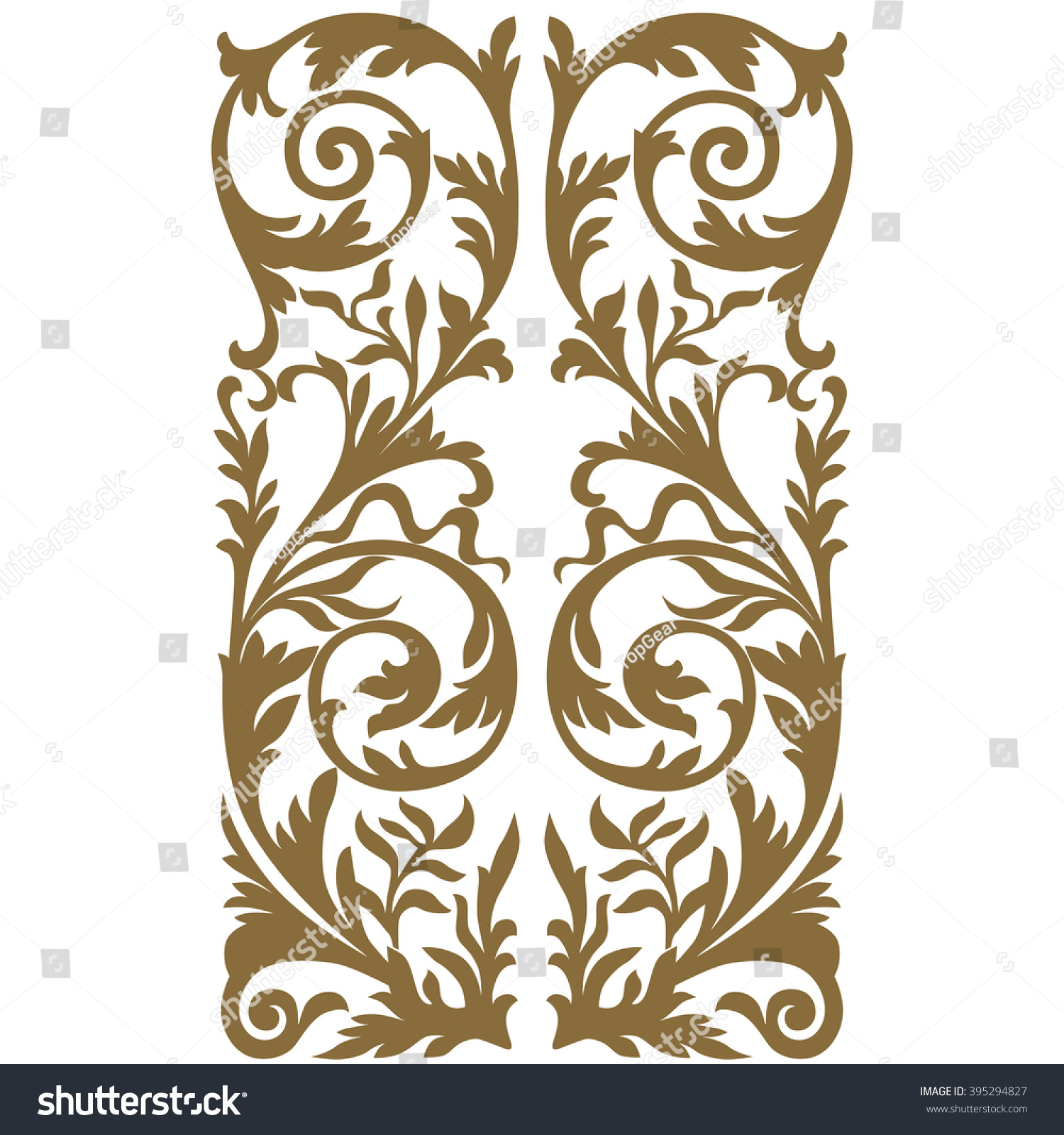 Antique Scrollimgs: Golden Vintage Baroque Frame Scroll Ornament Stock Vector