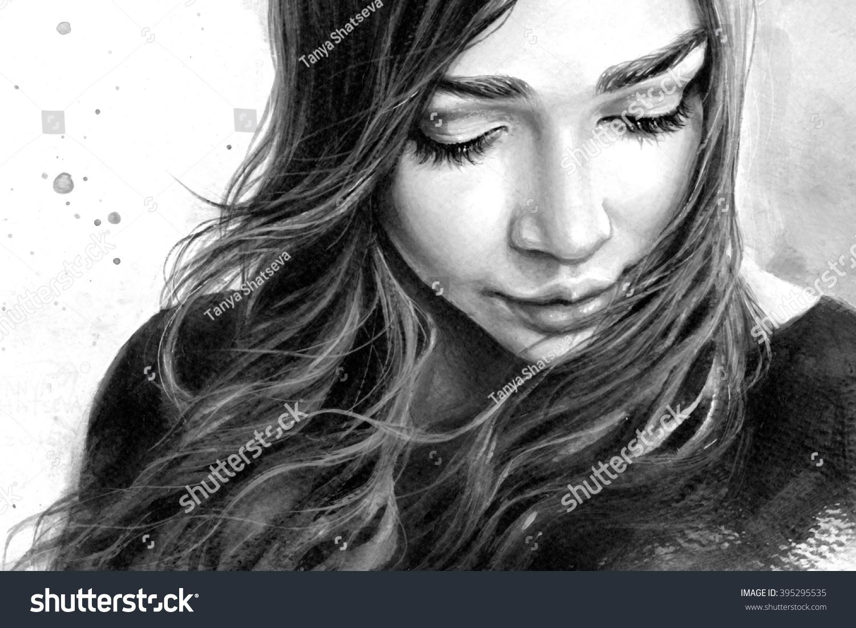 Girl sad tumblr black and white