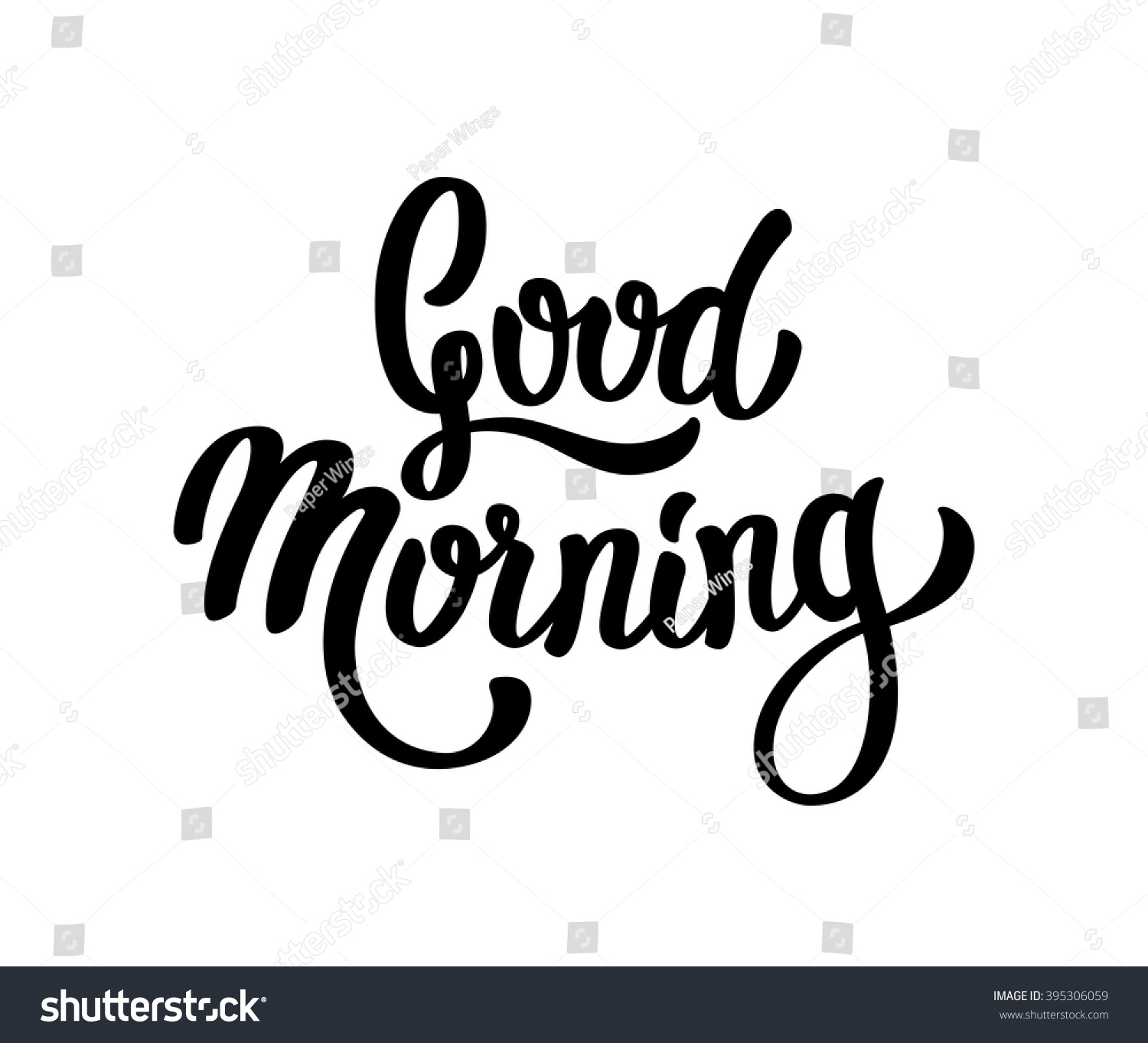 Good Morning Spanish Text : Good morning lettering text stock vector