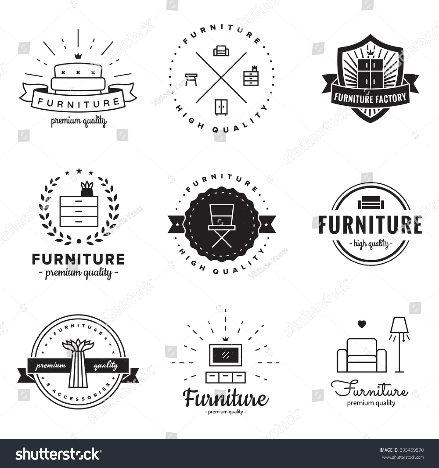Vintage furniture logo Retro Furniture Furniture Logo Vintage Vector Set Hipster And Retro Style Perfect For Your Business Design Avopixcom Royaltyfree Furniture Logo Vintage Vector Setu2026 395459590 Stock