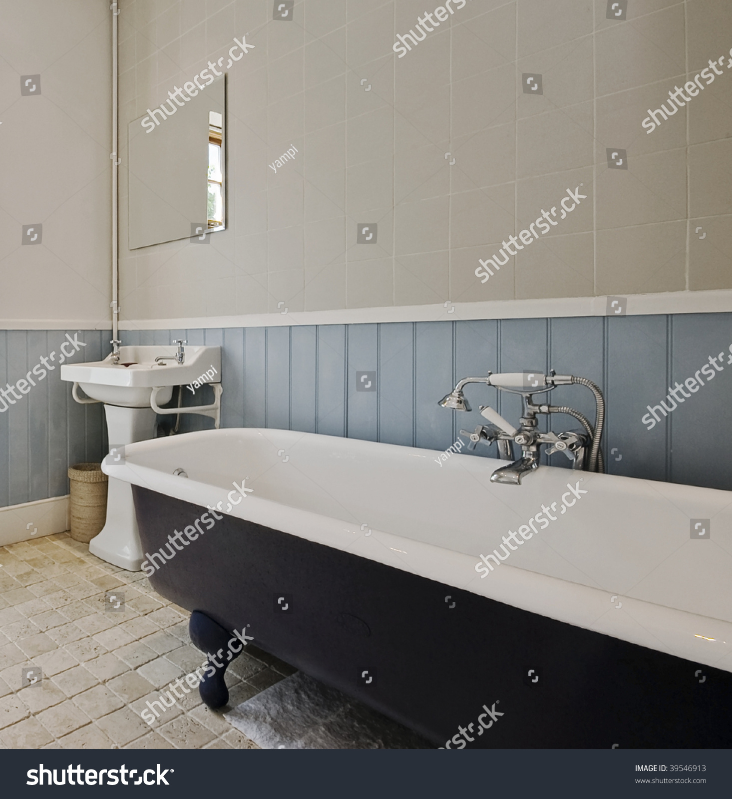 classic bathroom with glazed alloy bath tub and vintage shower bath tub and vintage shower attachment preview save to a lightbox