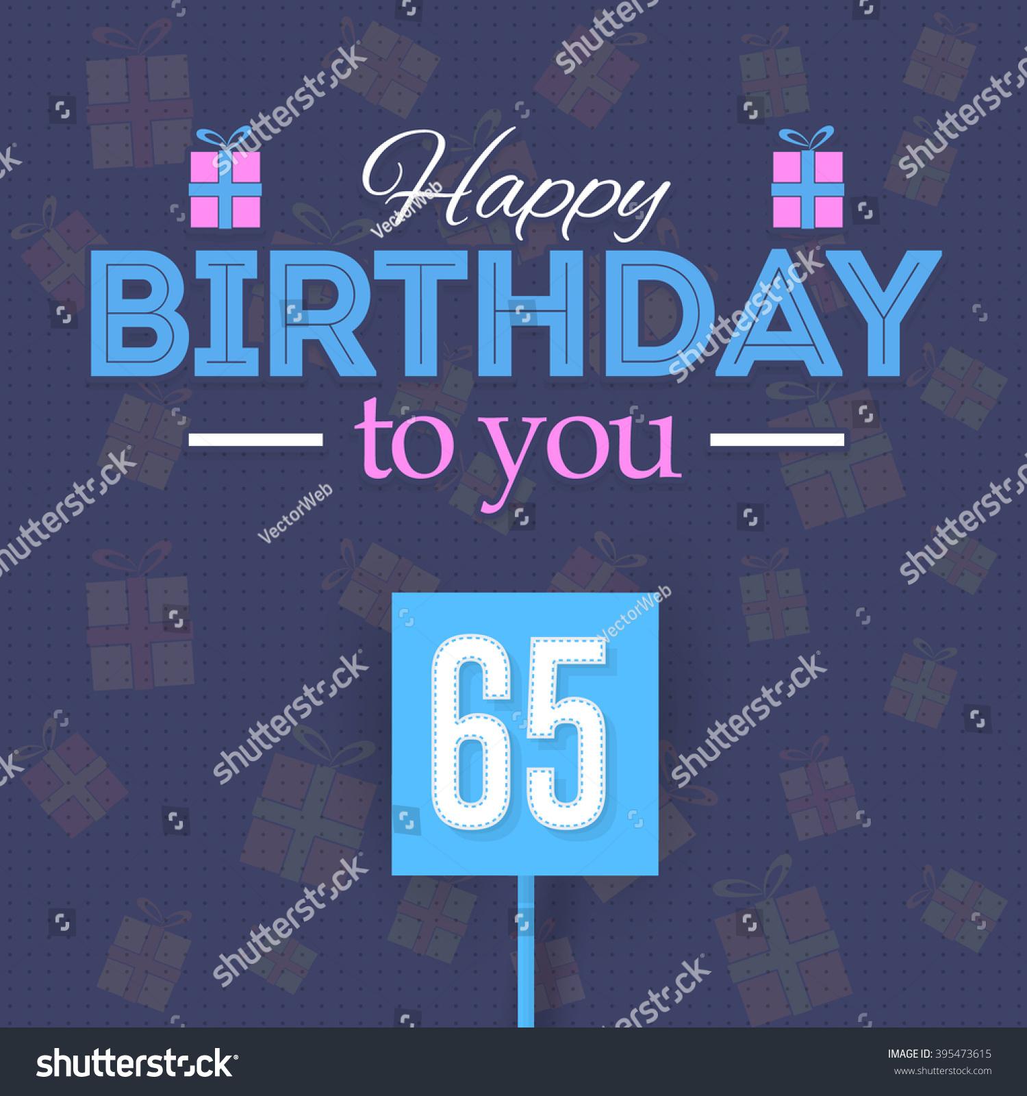 Happy birthday vector design announcement greeting stock vector happy birthday vector design announcement and greeting message banner flyer age 65 kristyandbryce Image collections