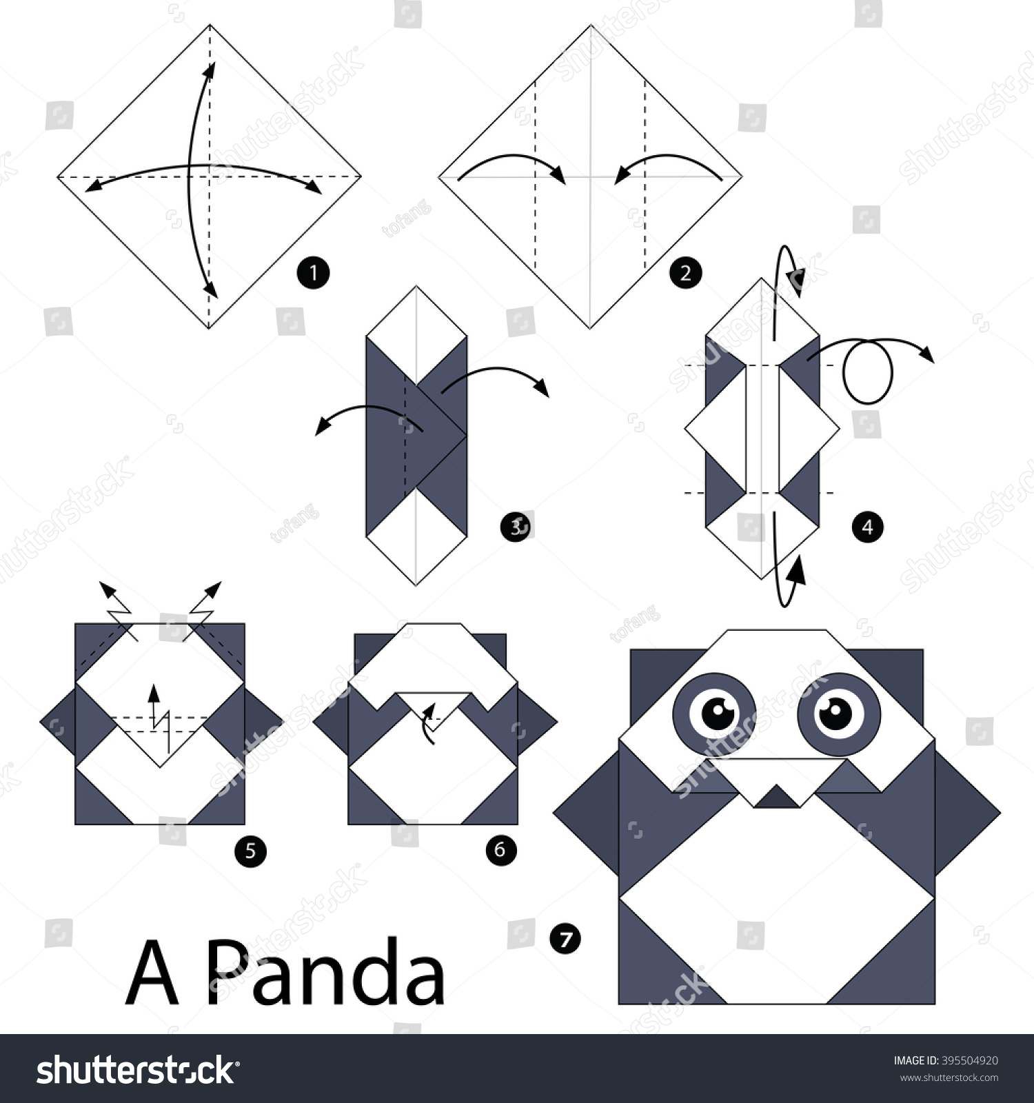 Step By Instructions How To Make Origami A Panda
