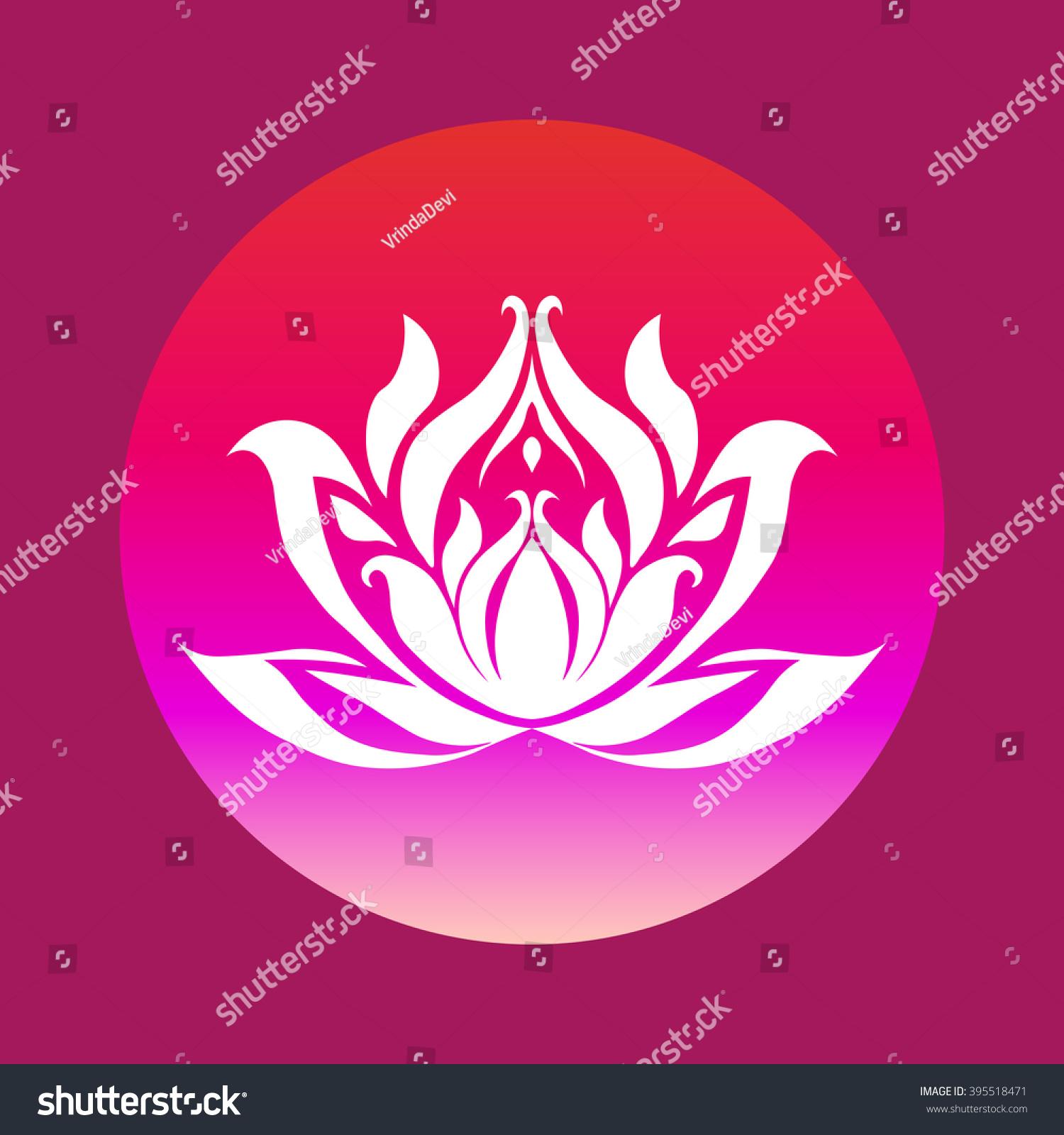Royalty Free White Lotus Flower Silhouette Vector 395518471 Stock