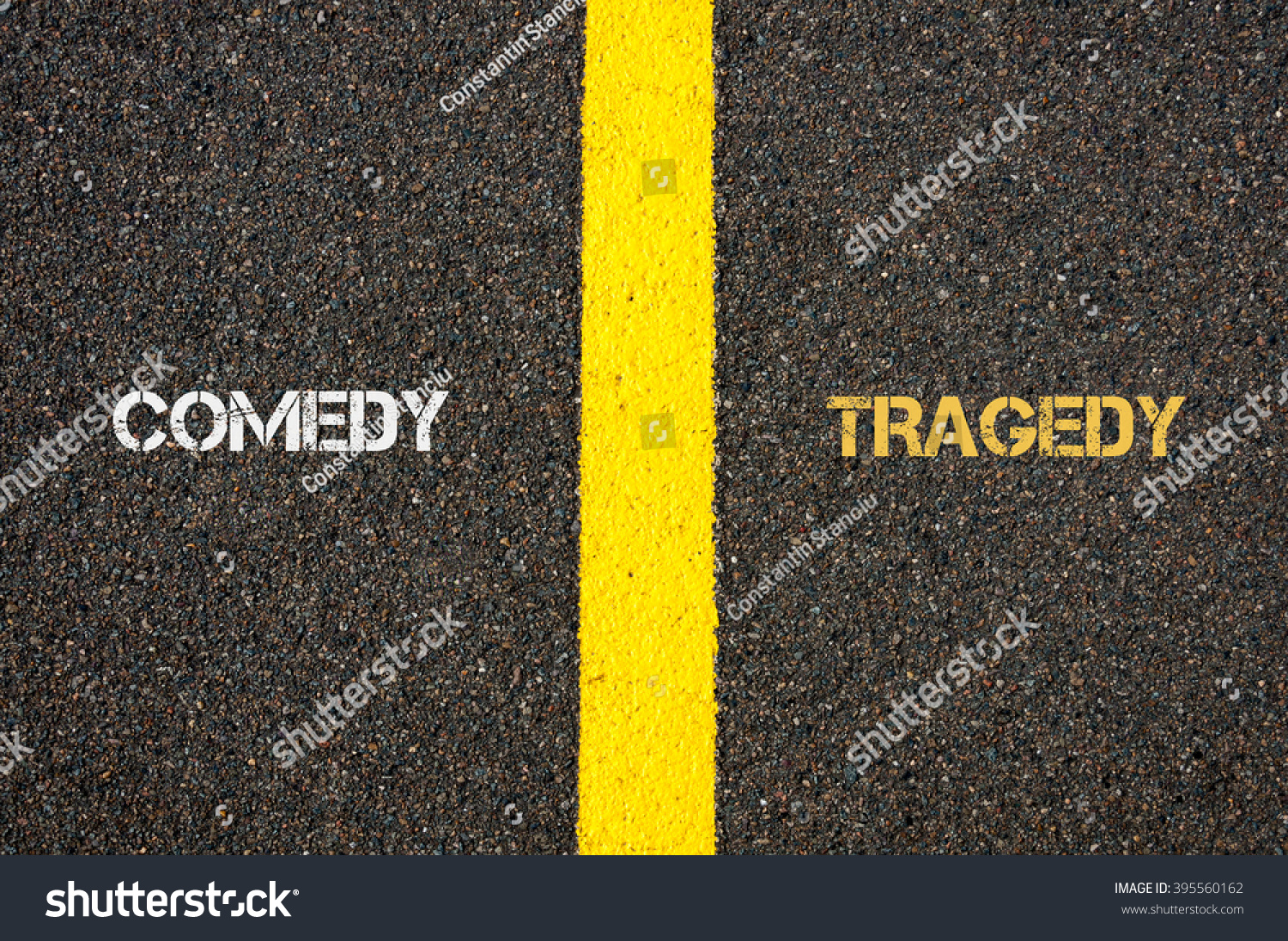 Worksheet Antonym For Simple antonym concept of comedy versus tragedy written over tarmac road save to a lightbox