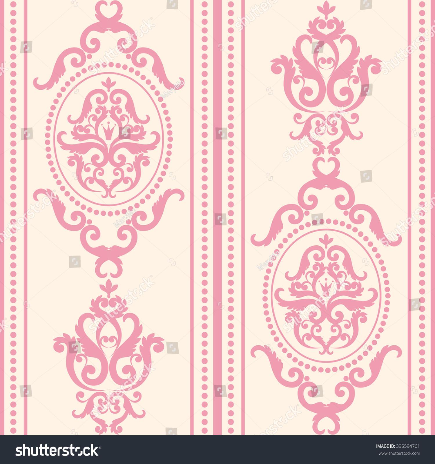 seamless damask pattern pink pastel texture stock vector royalty