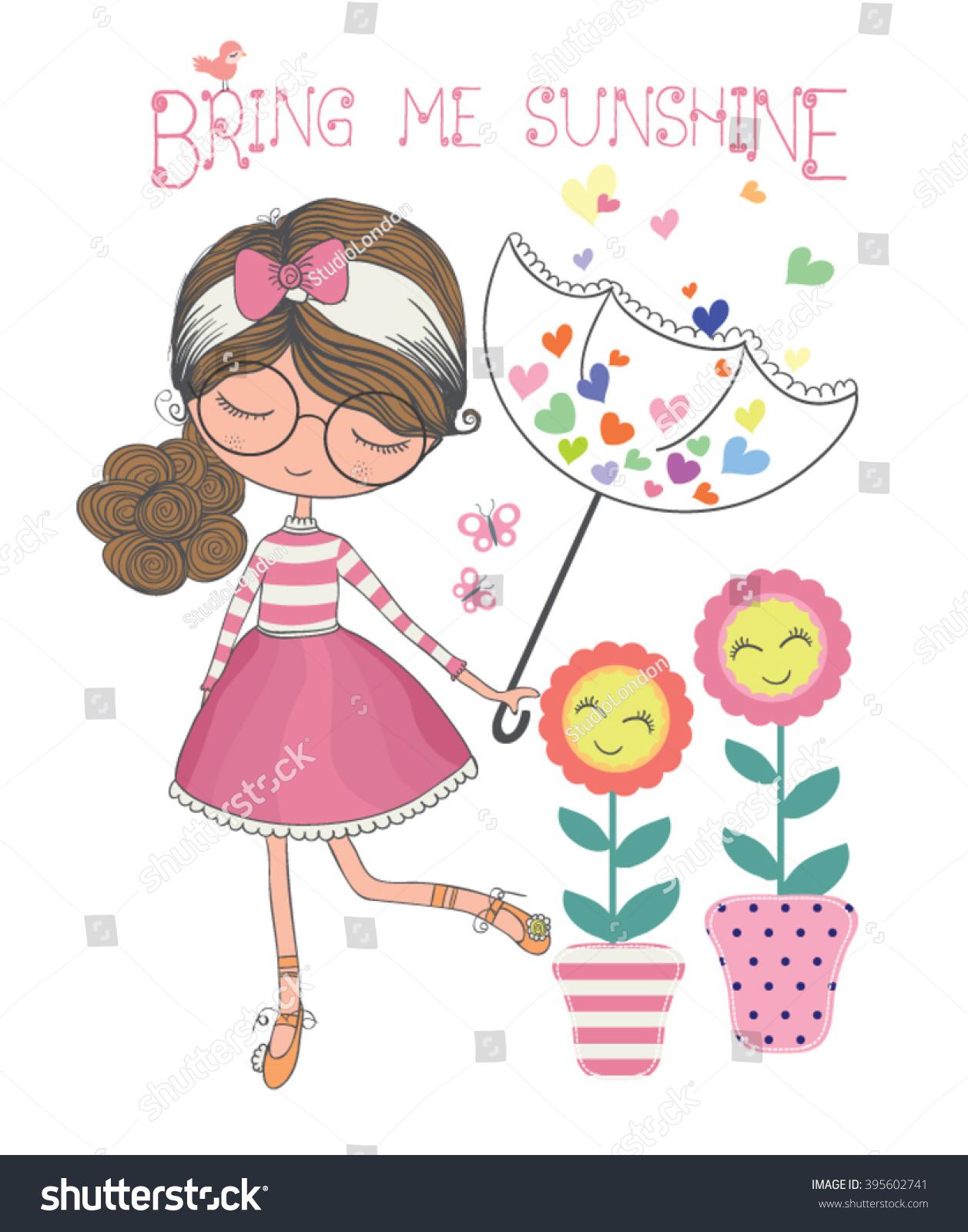 Shirt design book - Cute Girl Vector T Shirt Print Typography Design Book Illustrations For Children