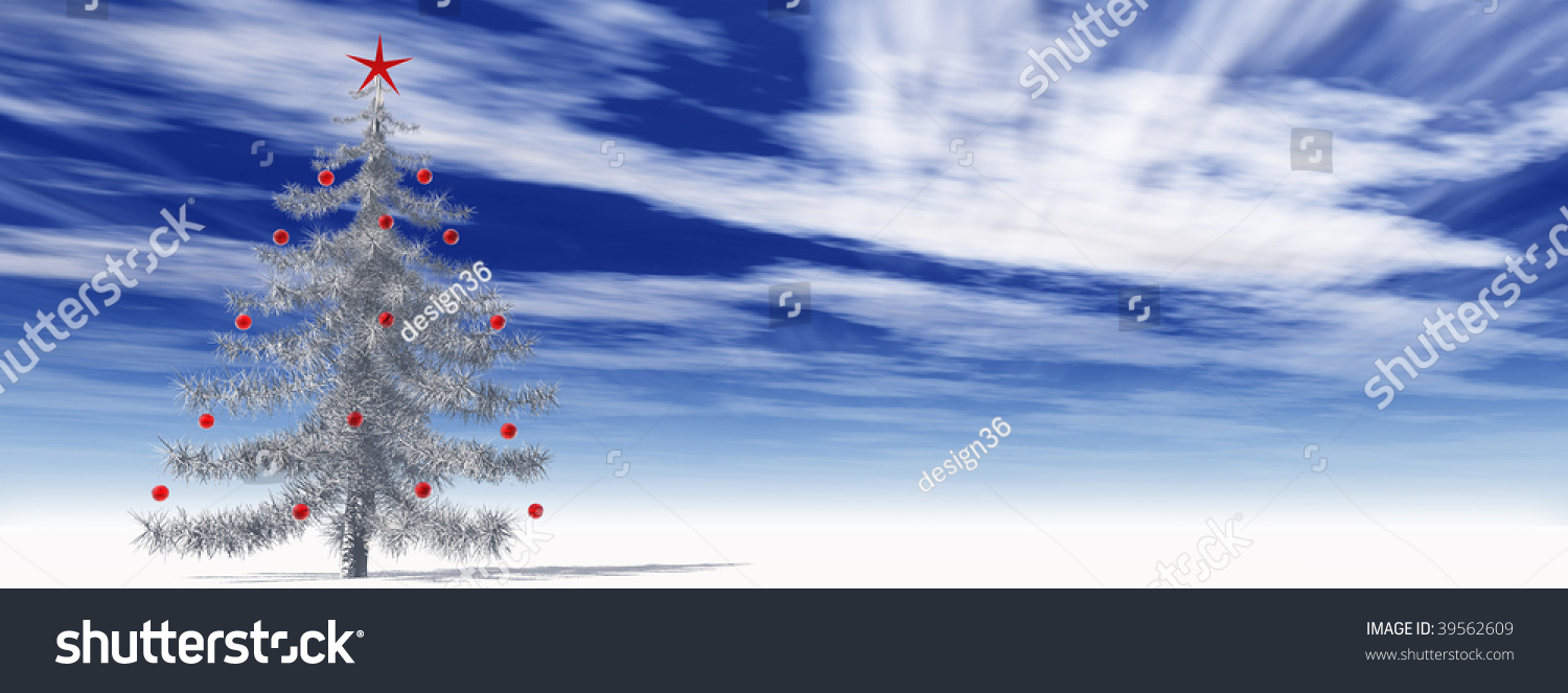 high resolution 3 d christmas tree red stock illustration 39562609