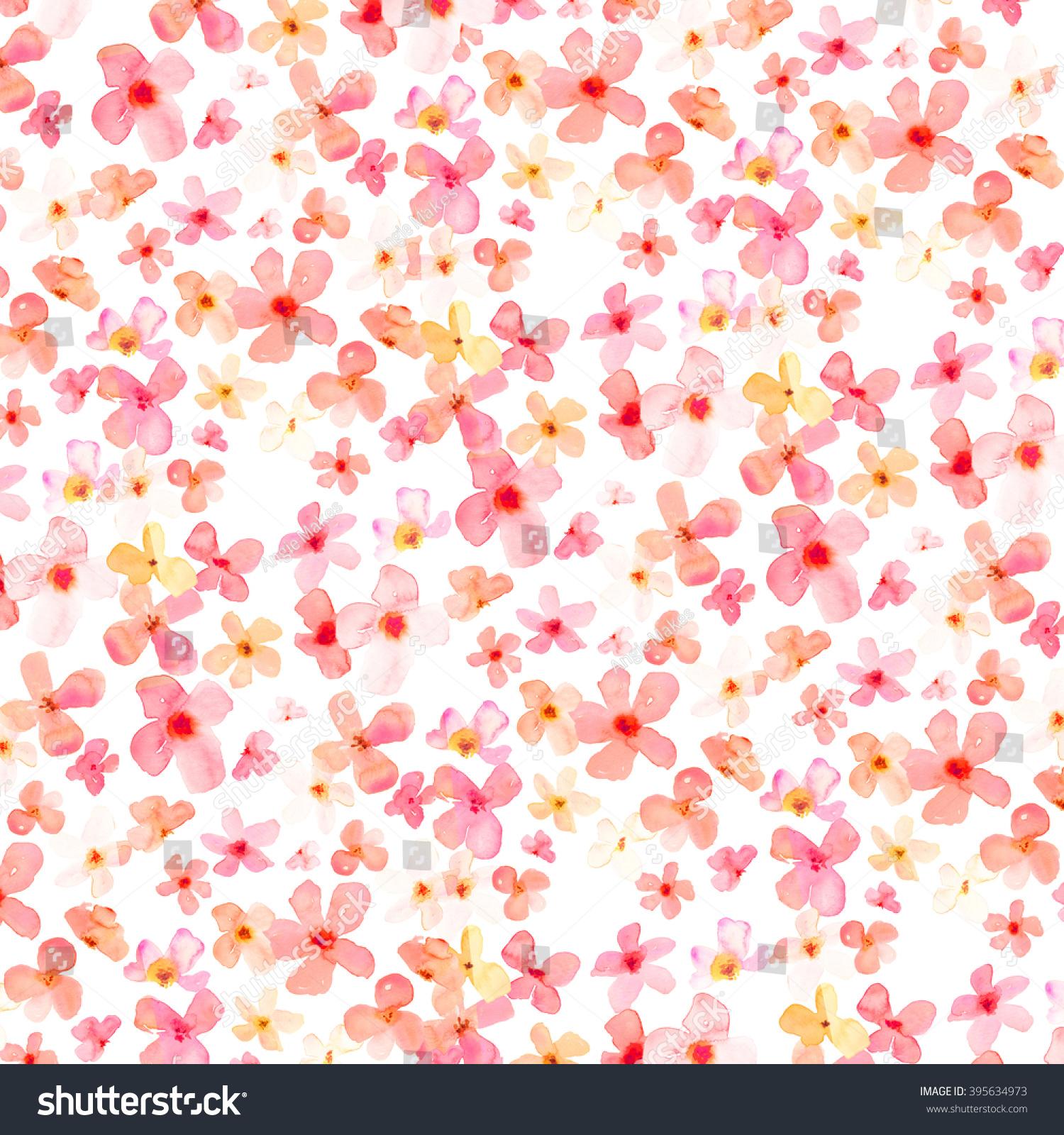cute spring flower background stock illustration 395634973