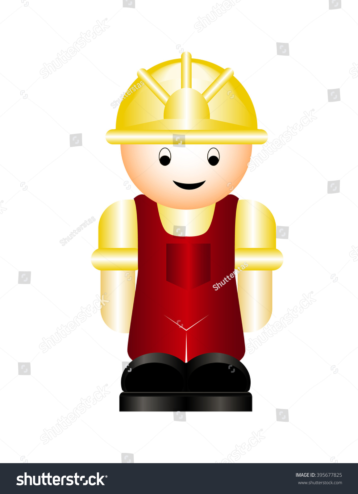 Toy Male Construction Worker Fun Workman Vector