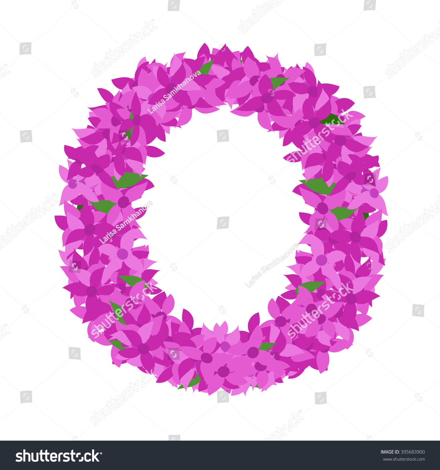 Letter O Lilac Flower Letter O Stock Vector (Royalty Free) 395683900 ...