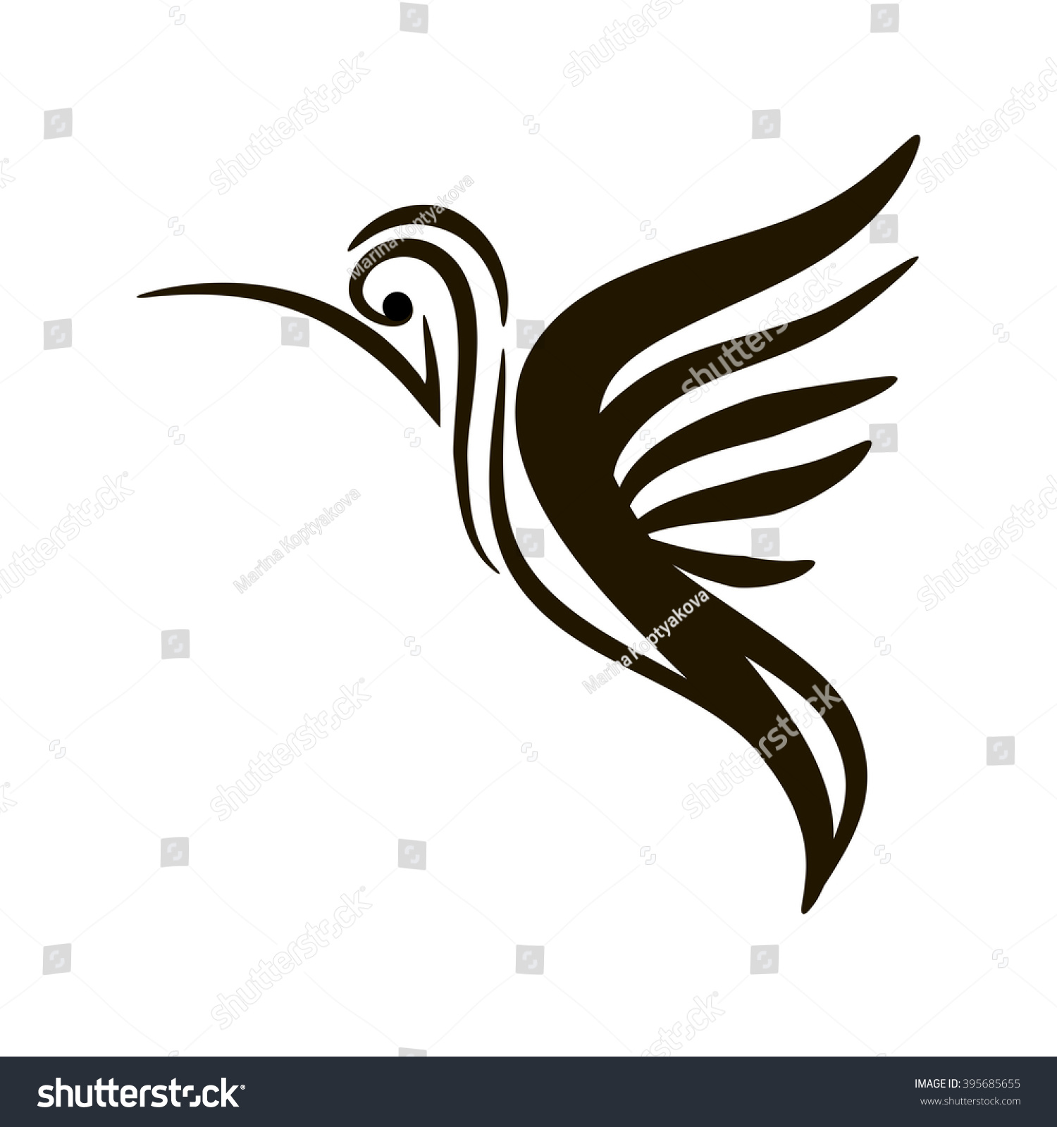 Hummingbird bird peace friendship stock vector 395685655 hummingbird bird of peace and friendship biocorpaavc Images