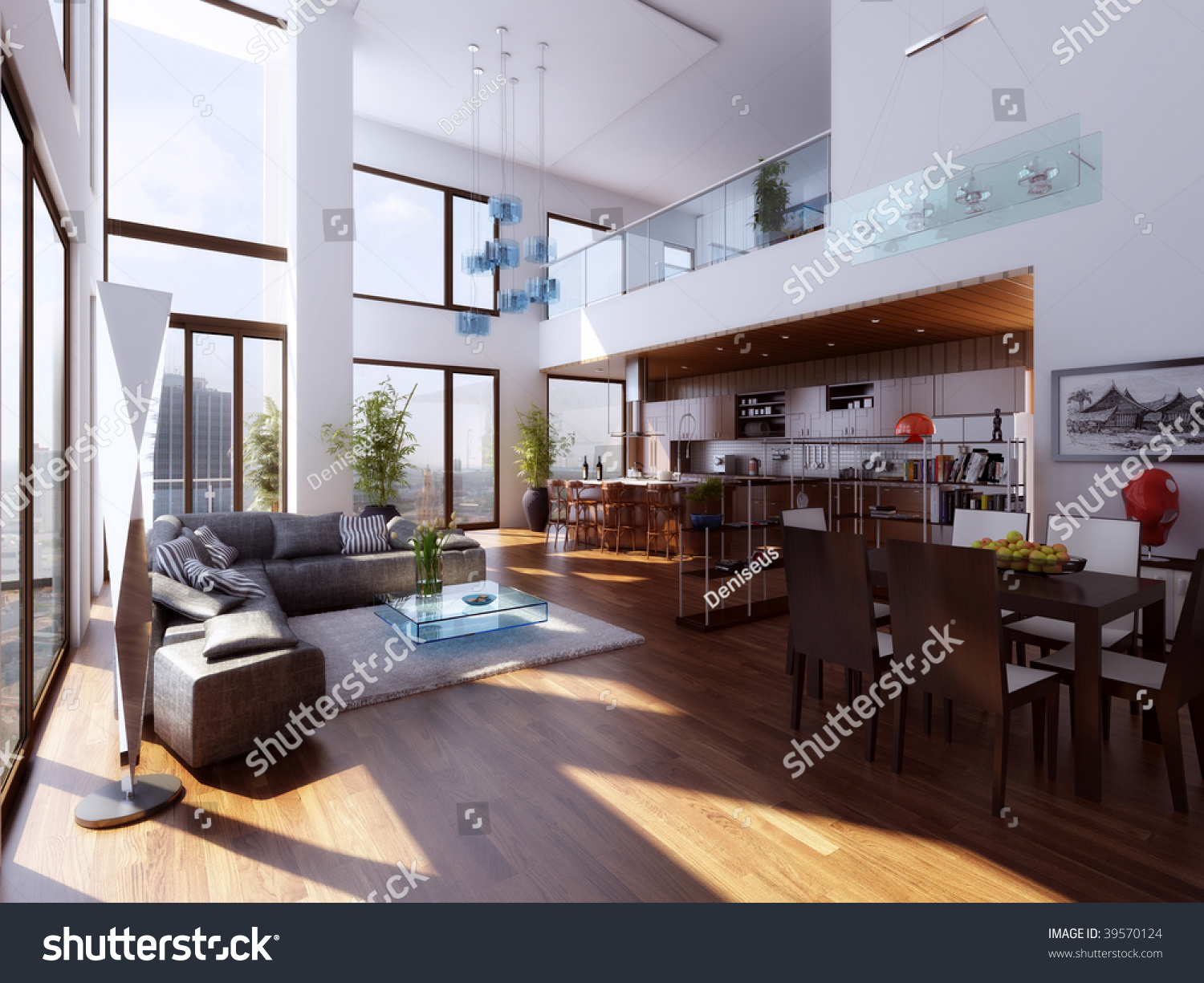 Duplex interior stock illustration 39570124 shutterstock for Duplex home interior photos