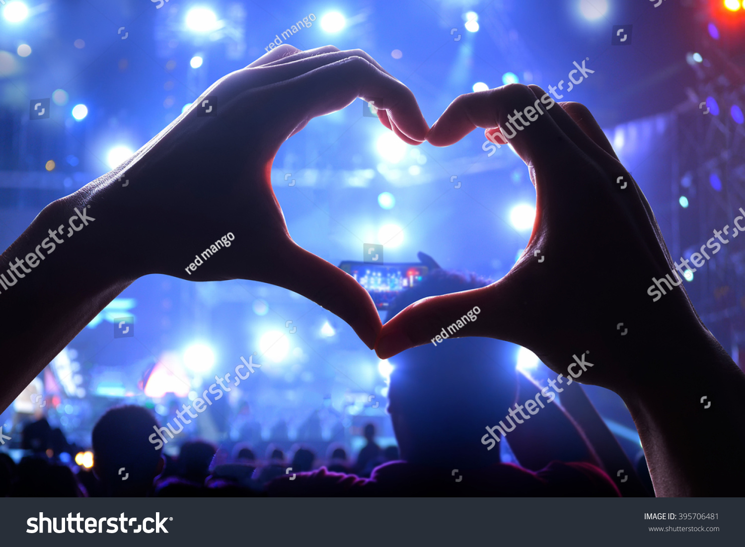 Royalty Free Silhouette Of A Heart Shaped Hands And