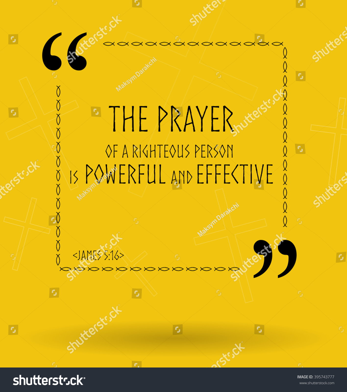 Best Bible Quotes About Power Prayer Stock Illustration Royalty