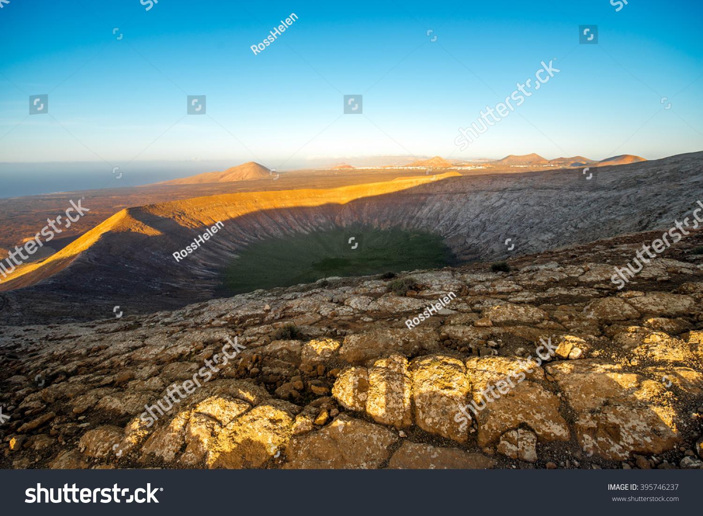 View On Crater Caldera Blanca Volcano Stock Photo (Edit Now