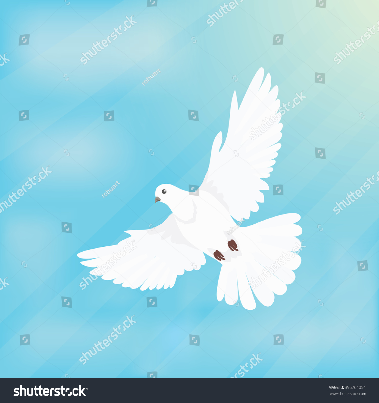 White Dove In Flight Outline white dove soars in space design flat ...