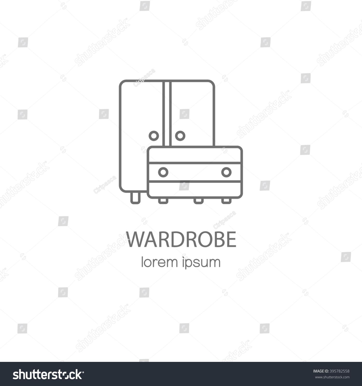 wardrobe template. wardrobe wood furniture logotype design templates modern easy to edit logo template vector