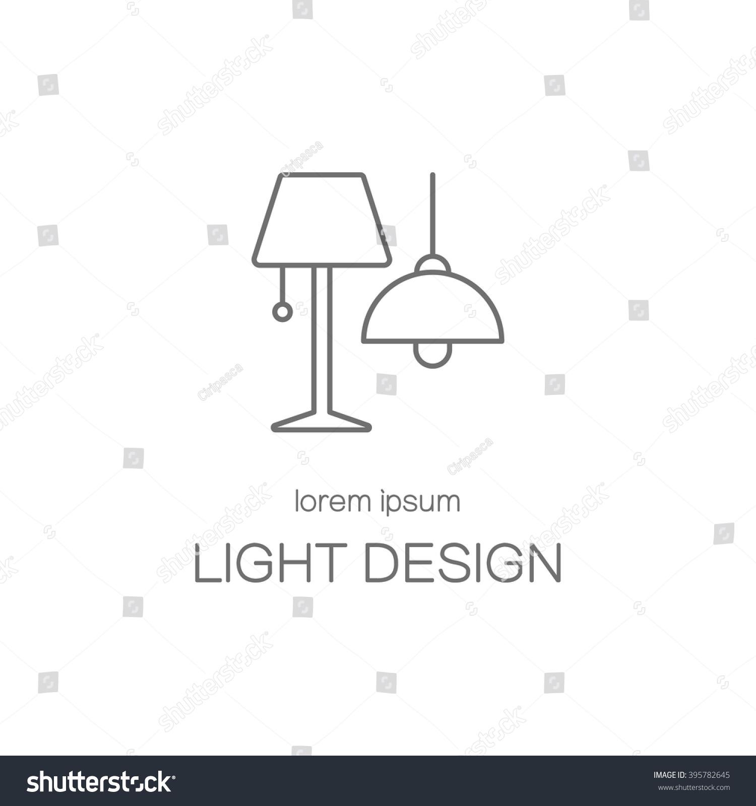Light design house line icon logotype design templates modern easy to edit logo template