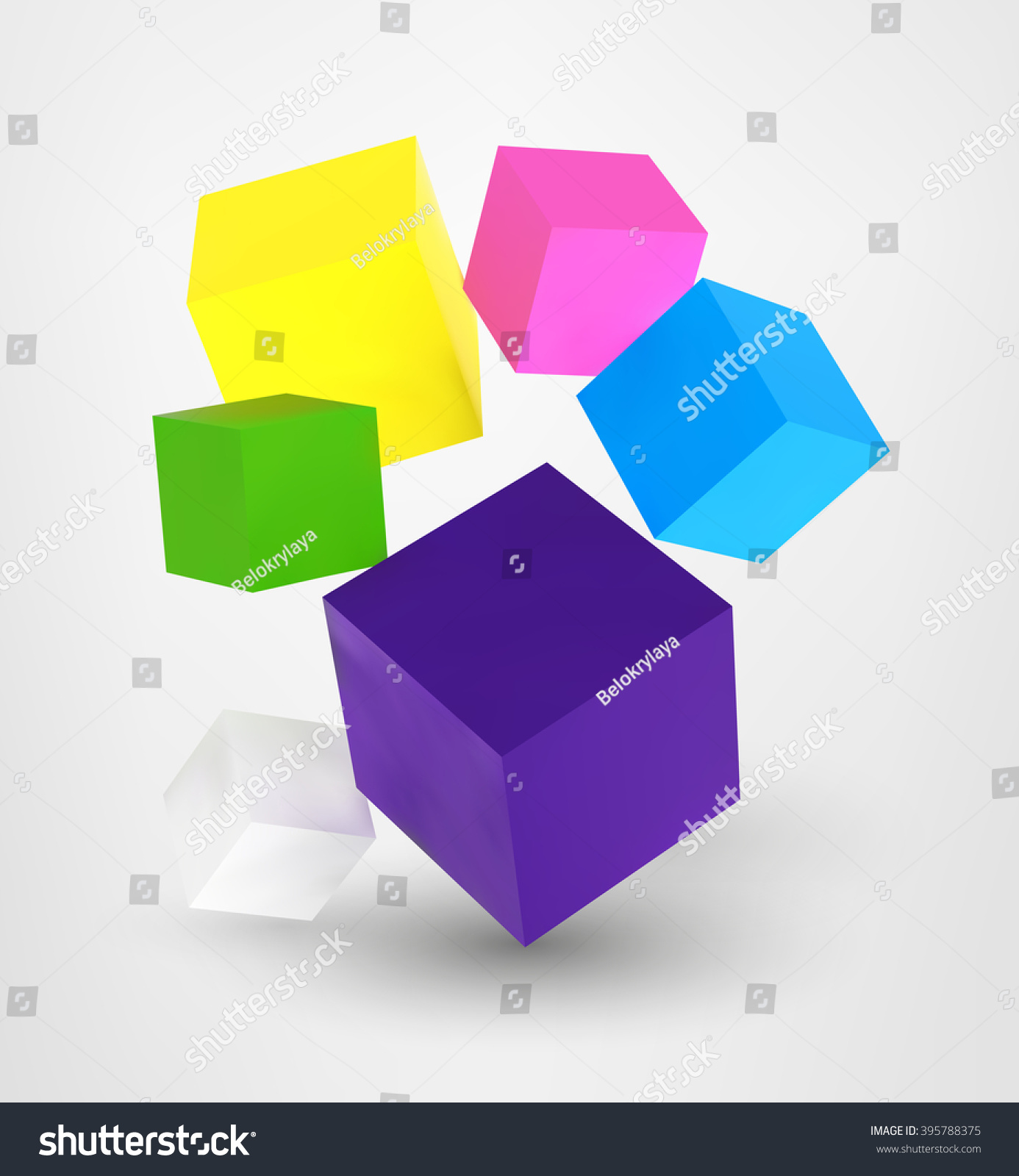 Poster design using 3d objects - Vector Square 3d Realistic Digital Cubes Set On Grey Background Advertisement Poster Banner Print