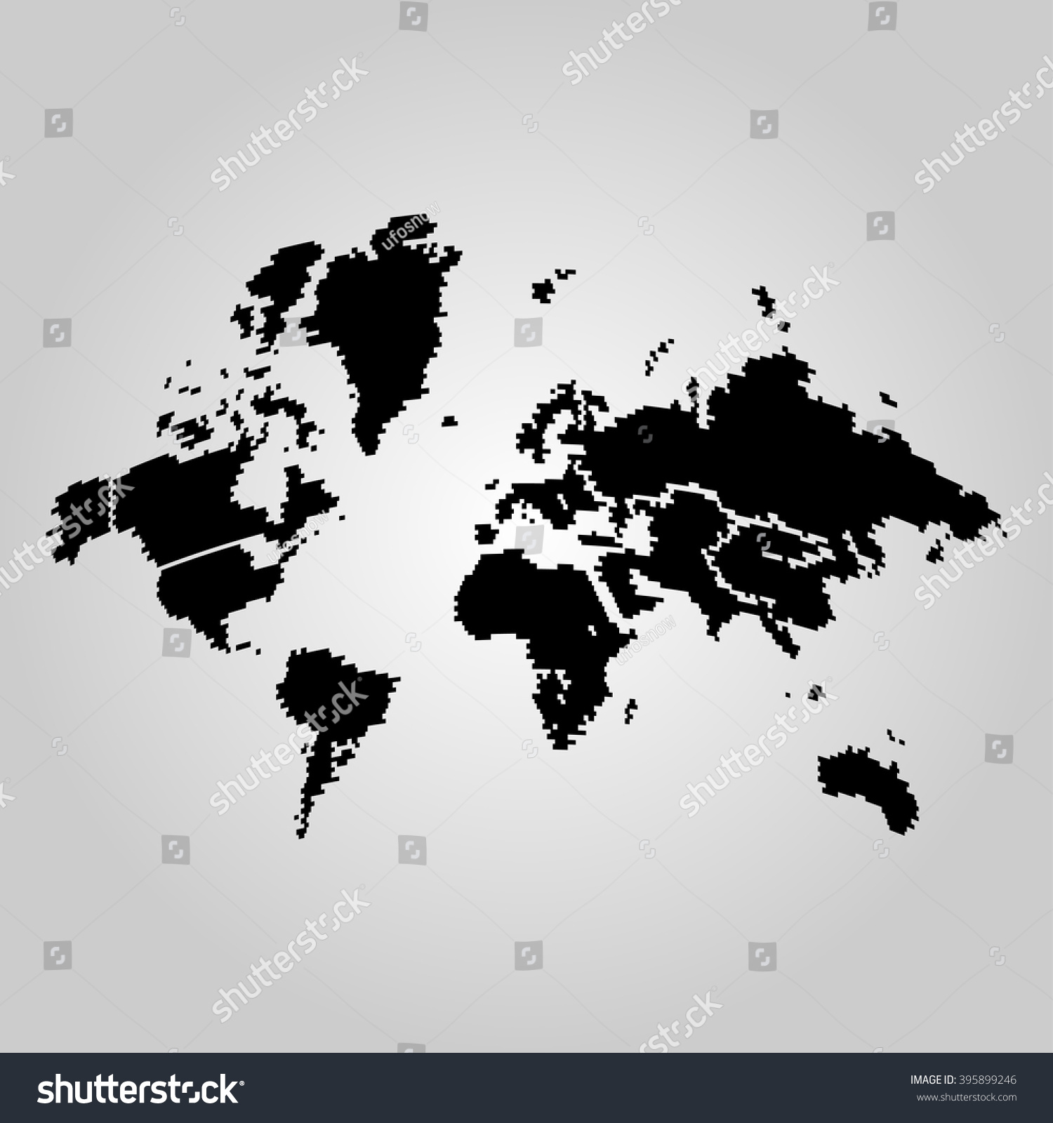 Simple black world map stock vector 395899246 shutterstock simple black world map gumiabroncs Image collections