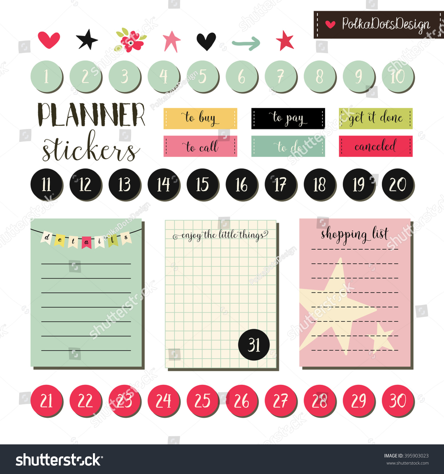 Planner Stickers Signs Symbols Objects Templates Stock Vector ... for Planner Stickers Template  54lyp