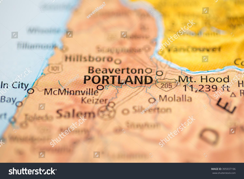 Portland Oregon Usa Stock Photo   Shutterstock - Portland oregon on the usa map