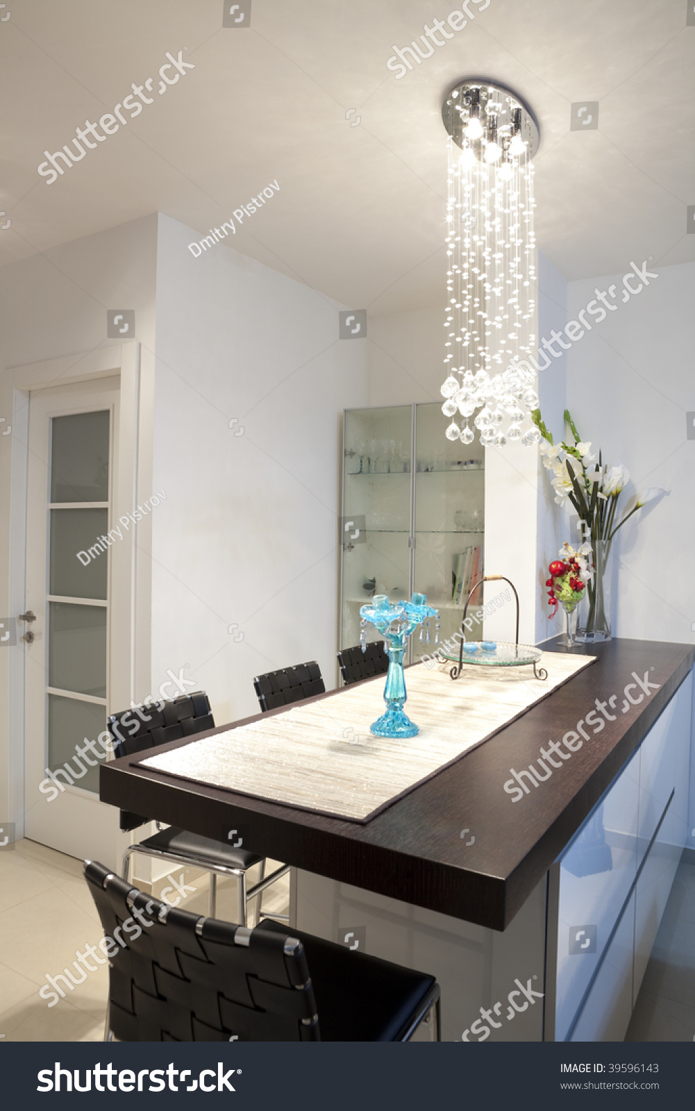 Modern Design Kitchen With White And Wood Elements Stock Photo 39596143 Shutterstock