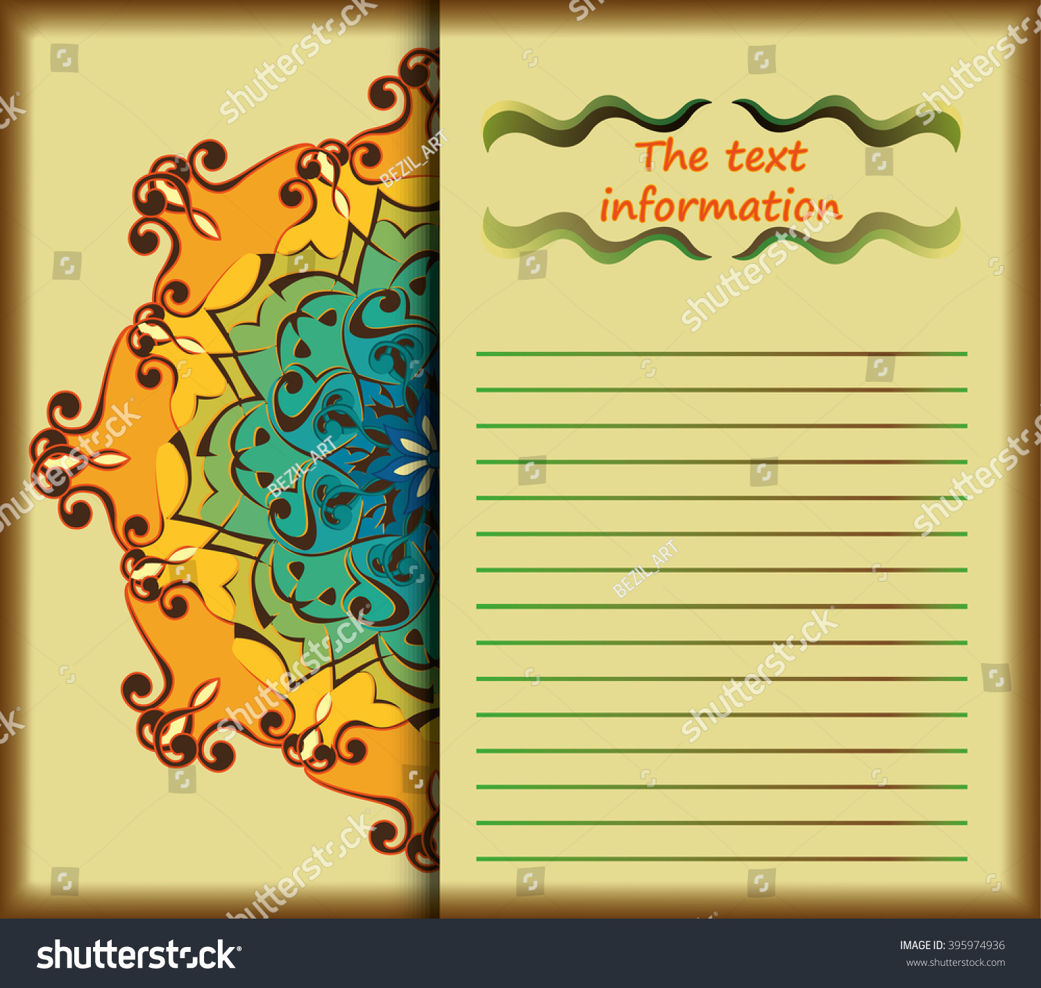 Handdrawn Background Frame Text Pattern Ornament Stock Photo (Photo ...