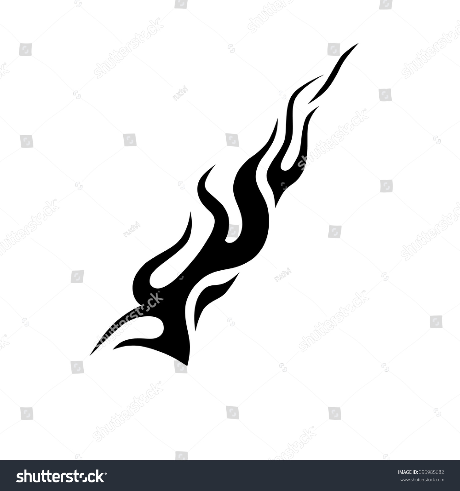 Tribal-Tattoos stock-vector-black-tribal-flame-for-a-tattoo-logo-or-other-design-tribal-tattoos-art-tribal-tattoo-vector-395985682