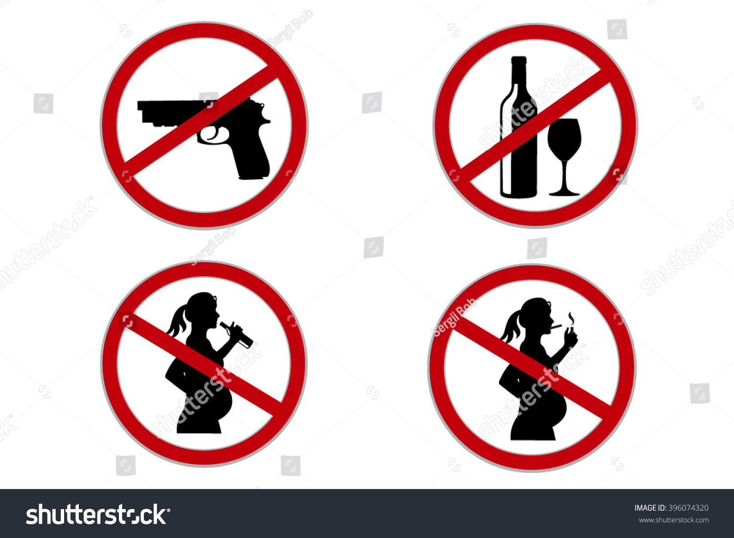 Set popular signs public places vector stock vector 396074320 set of popular signs for public places vector illustration buycottarizona Image collections