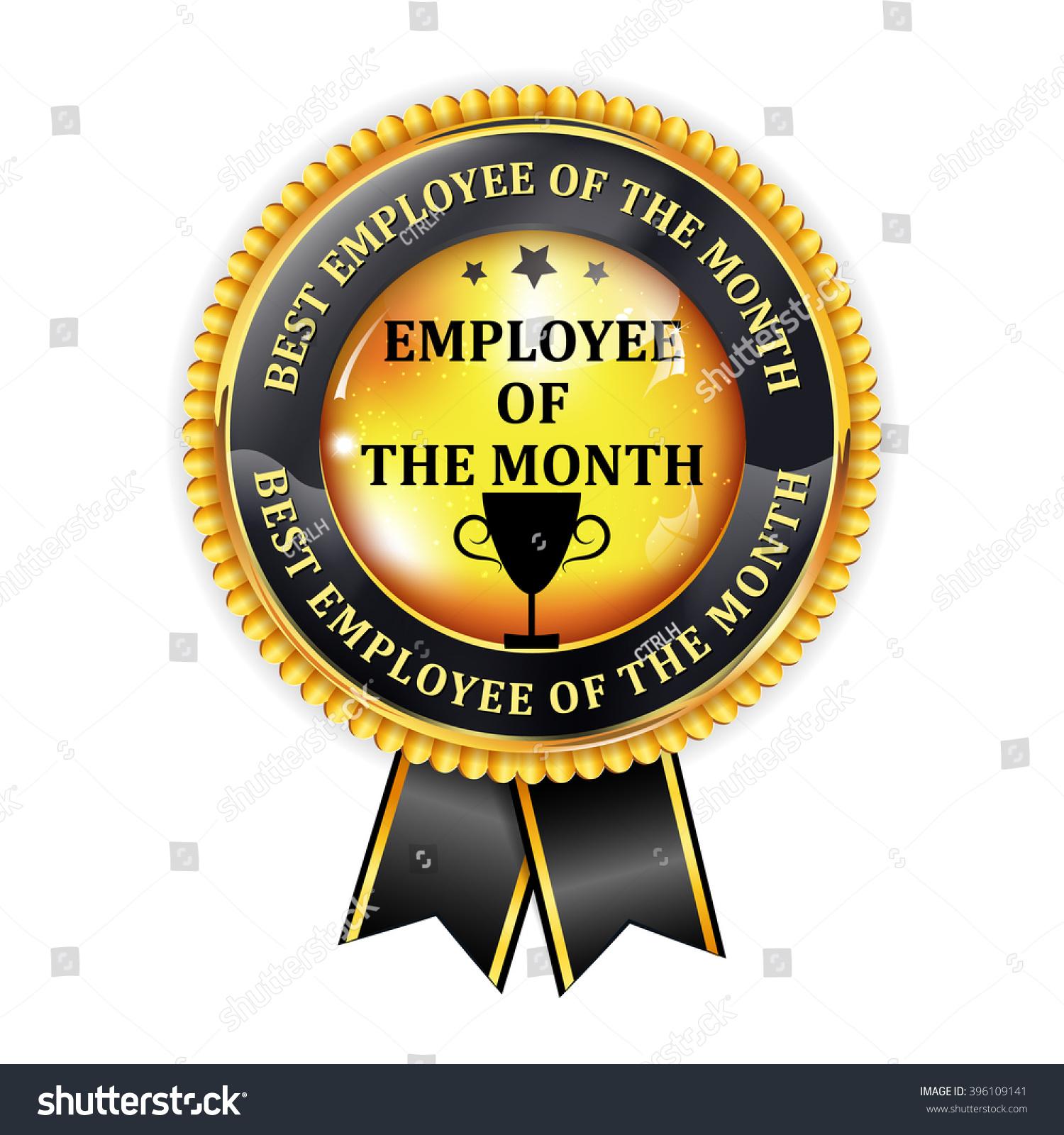 Employee Month Elegant Golden Black Award Stock Vector 396109141 ...