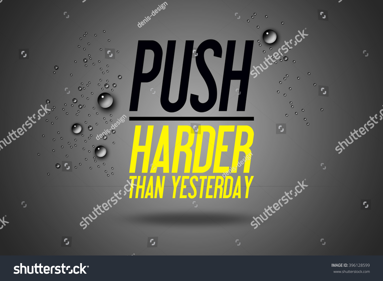Push Harder Than Yesterday Advertisement Quotes Stock Illustration ...
