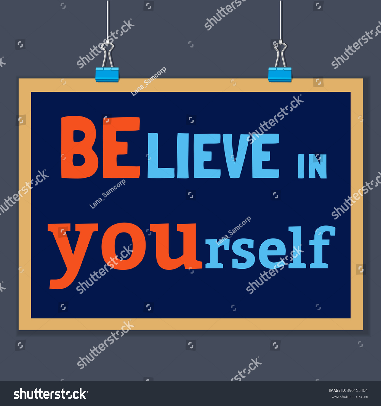Design poster yourself - Motivated Quote Believe In Yourself Motivational Vector Typography Poster Concept Idea For Design Of